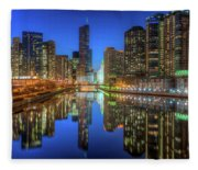 Chicago River East Fleece Blanket