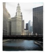 Chicago River Fleece Blanket