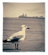 Chicago Seagull Fleece Blanket