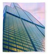 Chicago Sears Willis Tower Pop Art Fleece Blanket