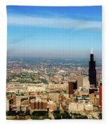 Chicago Skyline - 1990s Fleece Blanket