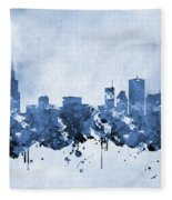 Chicago Skyline-blue 2 Fleece Blanket
