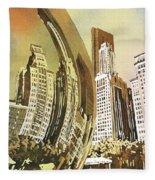 Chicago Skyline Fleece Blanket