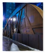 Chicago Steel Bridge Fleece Blanket