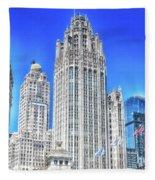 Chicago The Gothic Tribune Tower Fleece Blanket