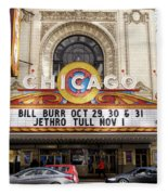 Chicago Theater Marquee Jethro Tull Signage Fleece Blanket