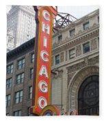 Chicago Theater Sign Fleece Blanket