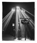 Chicago Union Train Station - 1943 Fleece Blanket