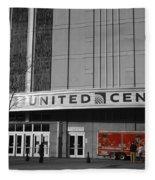 Chicago United Center Signage Sc Fleece Blanket