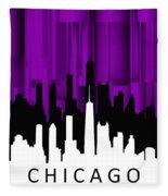 Chicago Violet Vertical  Fleece Blanket
