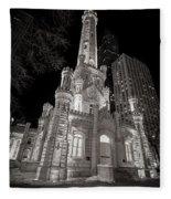 Chicago Water Tower Fleece Blanket