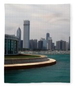 Chicago Waterfront Fleece Blanket