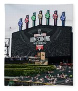 Chicago White Sox Home Coming Weekend Scoreboard Fleece Blanket