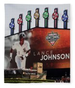 Chicago White Sox Lance Johnson Scoreboard Fleece Blanket