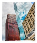 Chicago's South Wabash Avenue  Fleece Blanket