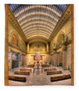 Chicagos Union Station Fleece Blanket