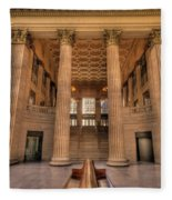 Chicagos Union Station Waiting Hall Fleece Blanket