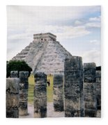 Chichen Itza 3 Fleece Blanket