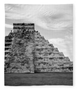 Chichen Itza B-w Fleece Blanket