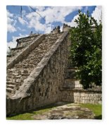 Chichen Itza Pyrmid 1 Fleece Blanket