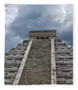 Chichen-itza Pyrmid In Mexico Fleece Blanket