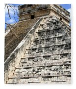 Chichen Itza Up Close Fleece Blanket