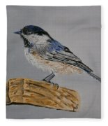 Chickadee Bird Fleece Blanket