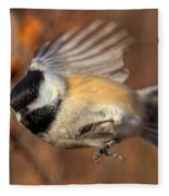 Chickadee Blurrrr Fleece Blanket