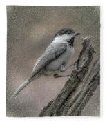 Chickadee Fleece Blanket
