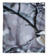 Chickadee Rain Fleece Blanket