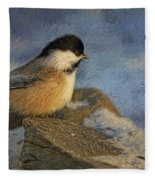 Chickadee Winter Perch Fleece Blanket