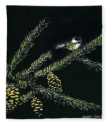 Chickadees Fleece Blanket