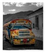 Chicken Bus - Antigua Guatemala Fleece Blanket