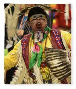 Pow Wow Chicken Dancer Fleece Blanket