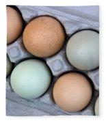 Chicken Eggs In Carton Fleece Blanket