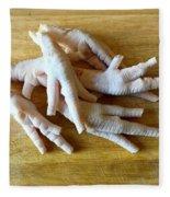 Chicken Feet Without Toenails Fleece Blanket