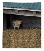 Chicken In Barn Fleece Blanket
