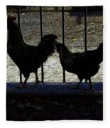 Chicken In Silhousette Fleece Blanket