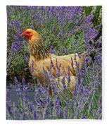 Chicken In The Lavender Fleece Blanket