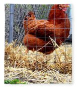 Chicken In The Straw Fleece Blanket