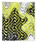 Chicken Scratch Abstract Fleece Blanket