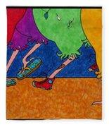 Chicken Walk Fleece Blanket