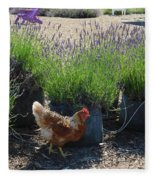 Chicken With Lavender  Fleece Blanket