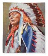 Chief Hollow Horn Bear Fleece Blanket
