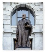 Chief Justice Edward Douglas White Statue- Nola Fleece Blanket