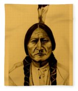 Chief Sitting Bull  Tatanka Iyotake Fleece Blanket