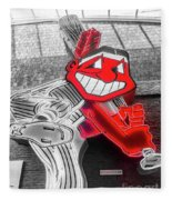 Chief Wahoo Sluggin Fleece Blanket