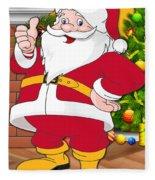 Chiefs Santa Claus Fleece Blanket