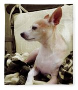 Chihuahua Chiqui Portrait 3 Fleece Blanket