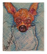 Chihuahua In A Pocket Fleece Blanket